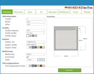 Beispiel Online Produktkonfigurator